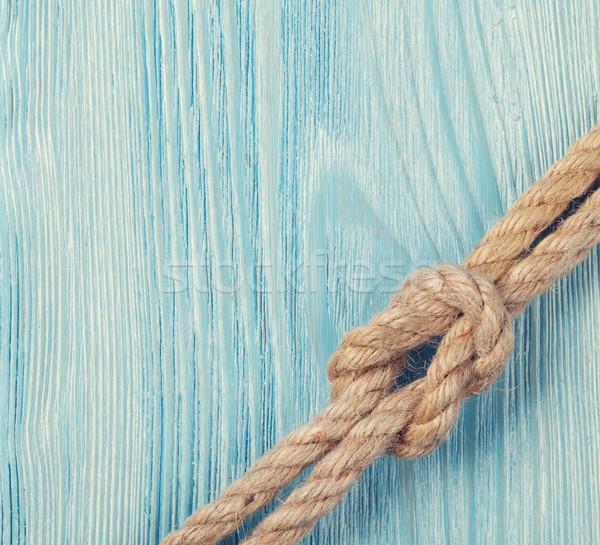 Sea vacation background with marine rope Stock photo © karandaev