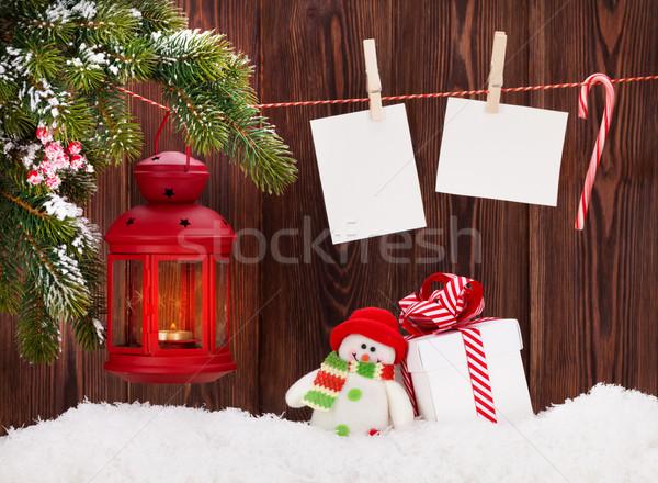 クリスマス キャンドル ランタン ギフトボックス 写真 写真 ストックフォト © karandaev