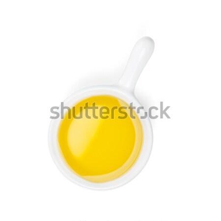 Aceite de oliva aislado blanco alimentos salud fondo Foto stock © karandaev