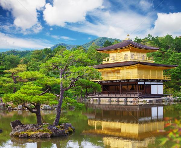 Or temple kyoto Japon eau arbre Photo stock © karandaev