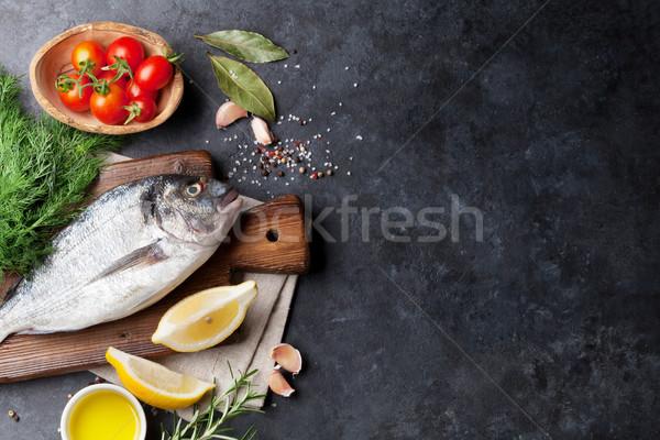 Fish cooking ingredients Stock photo © karandaev