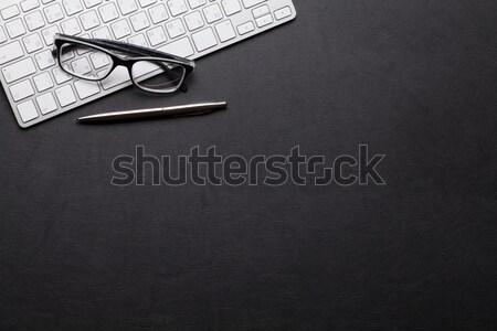 Headphones and keyboard Stock photo © karandaev
