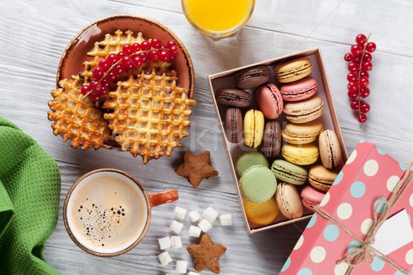 Stockfoto: Koffie · snoep · top · voedsel · chocolade