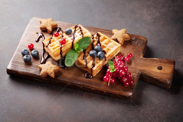 液果類 木板 食品 チョコレート 背景 キャンディ ストックフォト © karandaev