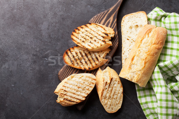 Toast brood steen tabel top Stockfoto © karandaev