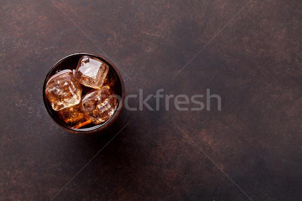 Cola vidro gelo topo ver Foto stock © karandaev