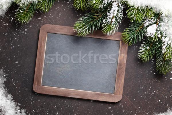 Navidad pizarra superior vista Foto stock © karandaev