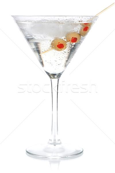 Coquetel coleção clássico martini isolado branco Foto stock © karandaev