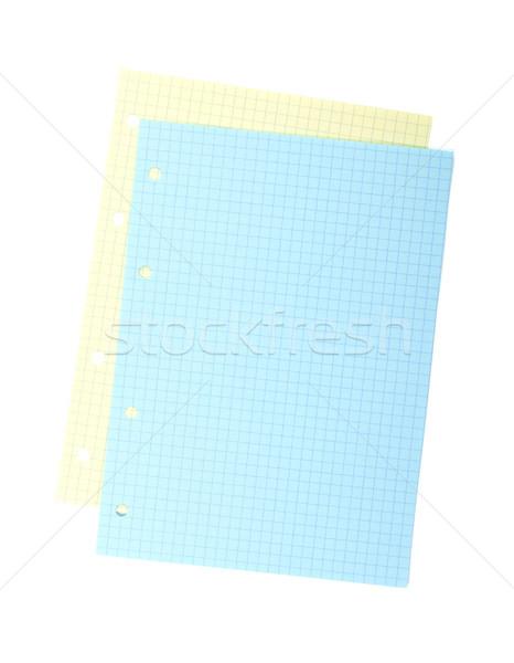 Kleurrijk schrijfpapier geïsoleerd witte business Stockfoto © karandaev