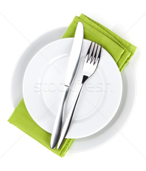 Argenterie fourche couteau plaques Photo stock © karandaev