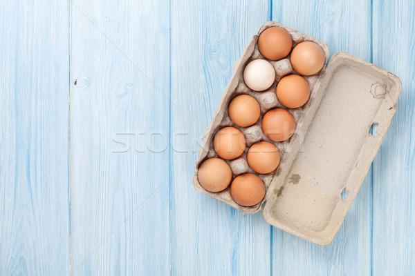 Cardboard egg box Stock photo © karandaev