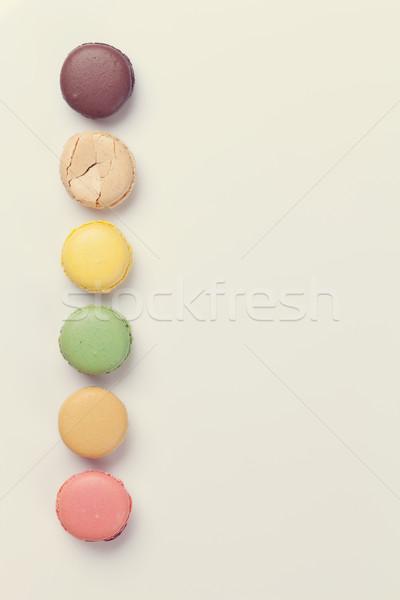 カラフル 甘い マカロン 色 コピースペース 食品 ストックフォト © karandaev