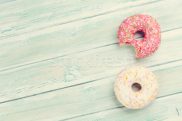 Colorful donuts Stock photo © karandaev