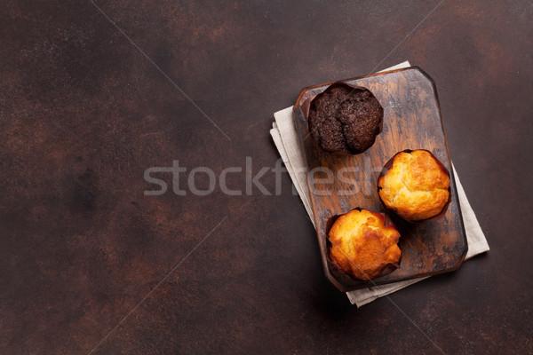 Topo ver espaço fundo café da manhã Foto stock © karandaev
