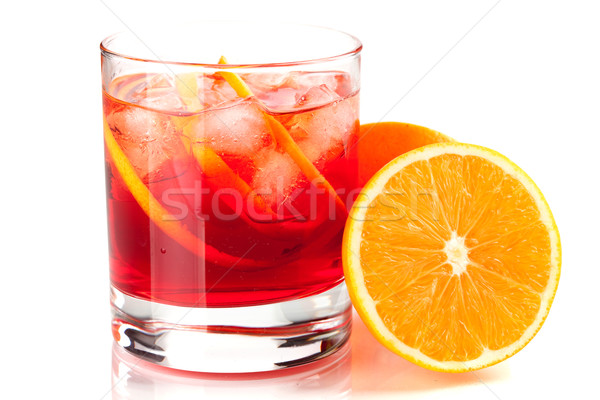 Alcohol cocktail collection - Negroni Stock photo © karandaev