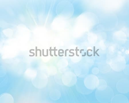 Sunny sky blurred bokeh background Stock photo © karandaev