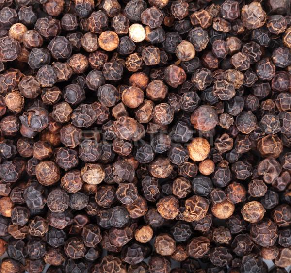 Borsszem fekete étel textúra háttér konyha Stock fotó © karandaev