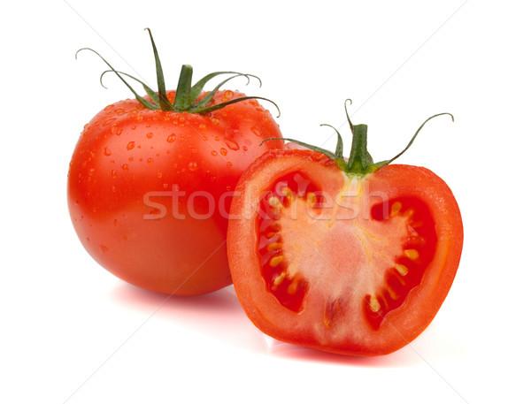 ストックフォト: 新鮮な · トマト · 水滴 · 孤立した · 白 · 食品