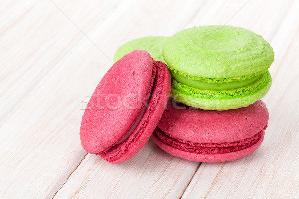 Colorful macarons Stock photo © karandaev