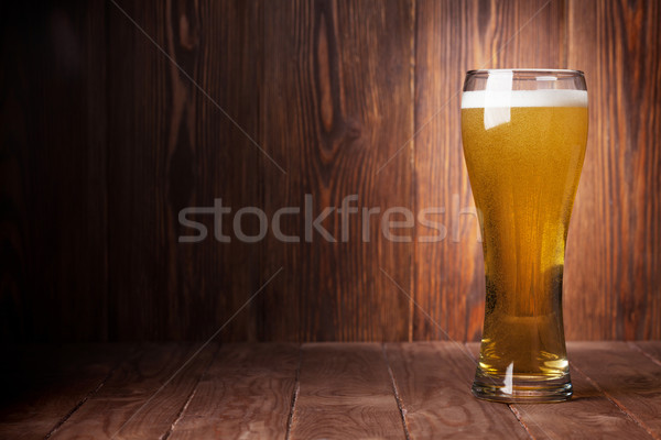 Lager beer glass Stock photo © karandaev