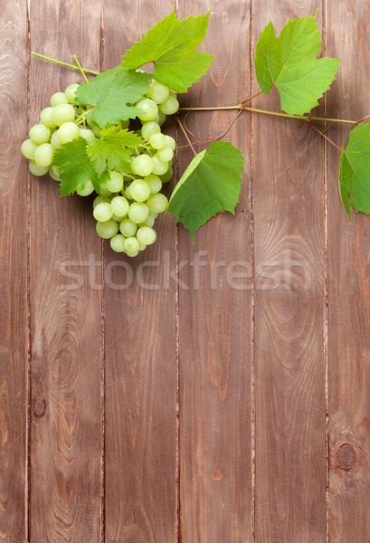 виноград винограда деревянный стол копия пространства продовольствие Сток-фото © karandaev