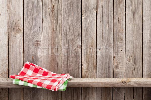 cuisine serviettes plateau rustique bois mur photo stock evgeny karandaev. Black Bedroom Furniture Sets. Home Design Ideas