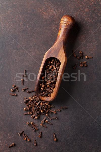 Wijn ingrediënten specerijen kardemom steen tabel Stockfoto © karandaev