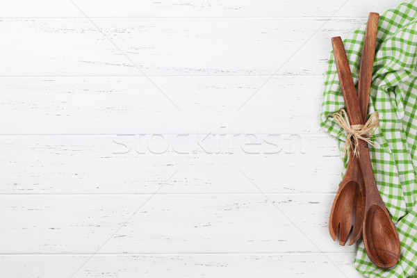 料理 木製のテーブル 先頭 表示 スペース ストックフォト © karandaev