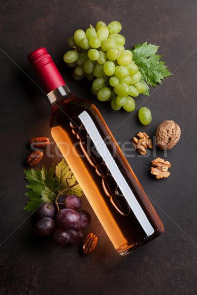 Bor szőlő diók felső kilátás fa Stock fotó © karandaev