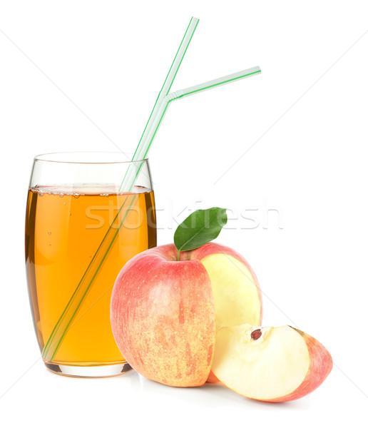 リンゴジュース ガラス リンゴ 飲料 孤立した 白 ストックフォト © karandaev