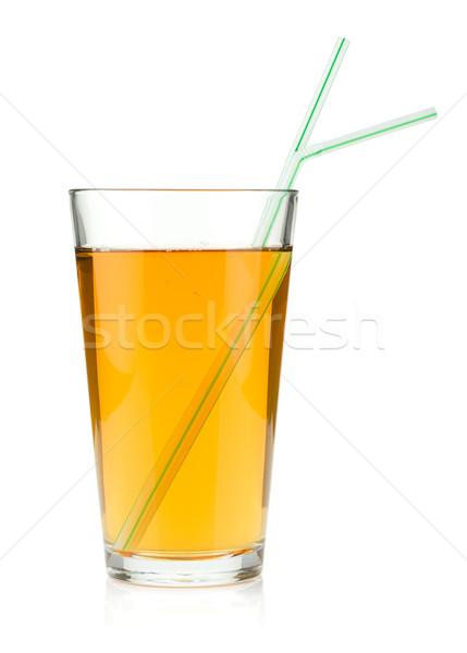 Almalé üveg iszik izolált fehér étel Stock fotó © karandaev
