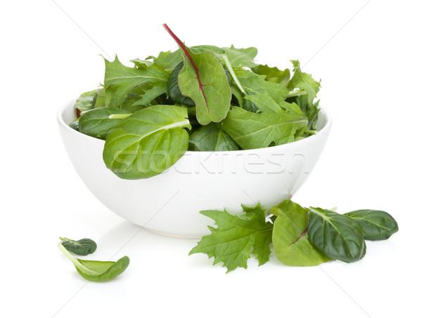 Fresh green salad in a bowl Stock photo © karandaev