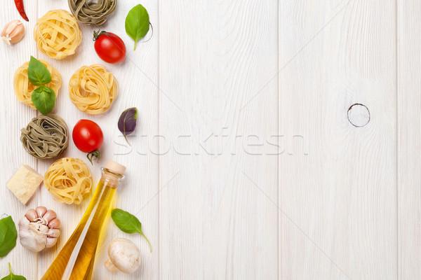 Italian food cooking ingredients Stock photo © karandaev