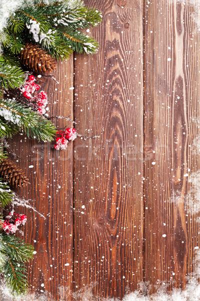Navidad nieve vista espacio de la copia Foto stock © karandaev
