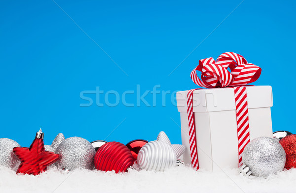Stockfoto: Christmas · geschenkdoos · exemplaar · ruimte · ruimte · Rood · geschenk
