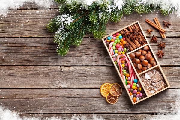 Stock fotó: Karácsonyi · étel · dekoráció · mézeskalács · sütik · karácsony · főzés