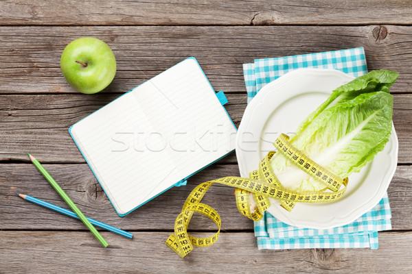 Gezonde voeding koken top exemplaar ruimte lichaam Stockfoto © karandaev