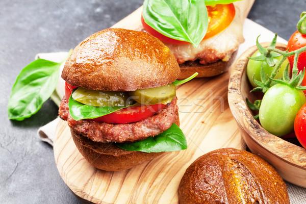 Stock photo: Homemade burgers