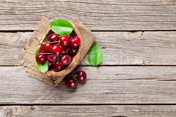 Fresh garden cherry Stock photo © karandaev