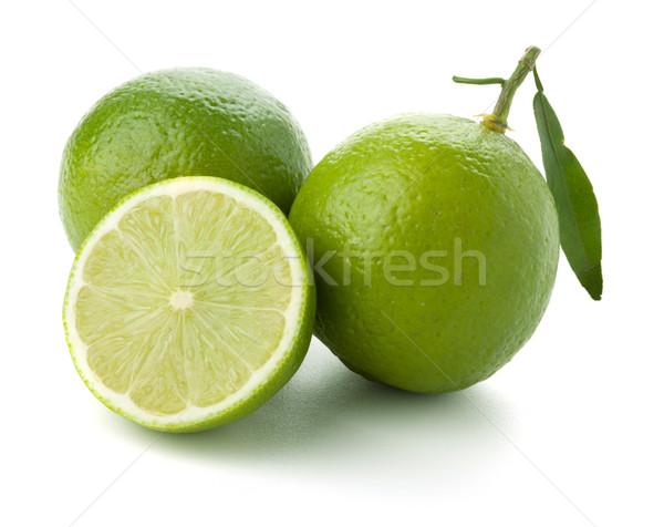 Two and half ripe limes Stock photo © karandaev
