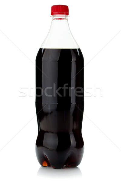 Cola fles geïsoleerd witte vruchten zomer Stockfoto © karandaev