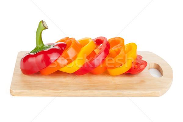 Sliced colorful bell pepper Stock photo © karandaev