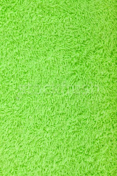зеленый полотенце текстуры макроса волос красоту Сток-фото © karandaev