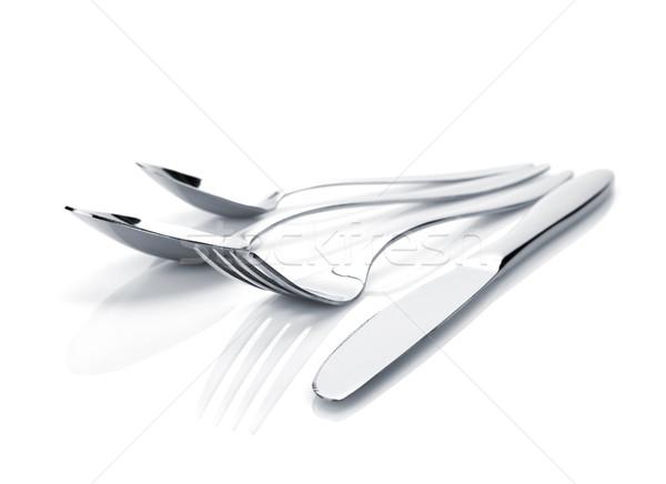 Silverware or flatware set of fork, spoons and knife Stock photo © karandaev