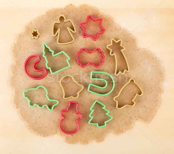 Stock fotó: Mézeskalács · karácsony · sütik · színes · süti · fa