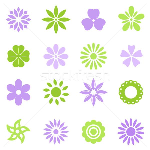 Kleurrijk bloemen vector ingesteld bloem Stockfoto © karandaev