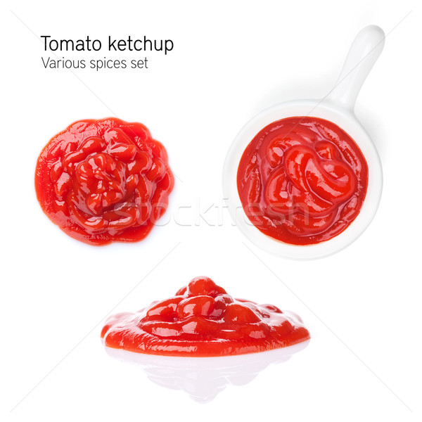 томатный кетчуп изолированный белый лице пасты Сток-фото © karandaev