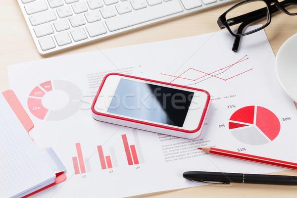 Ofis işyeri telefon pc Stok fotoğraf © karandaev