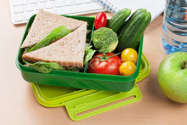 Pranzo finestra verdura sandwich Foto d'archivio © karandaev