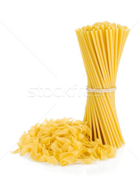 Foto d'archivio: Spaghetti · isolato · bianco · sfondo · pasta